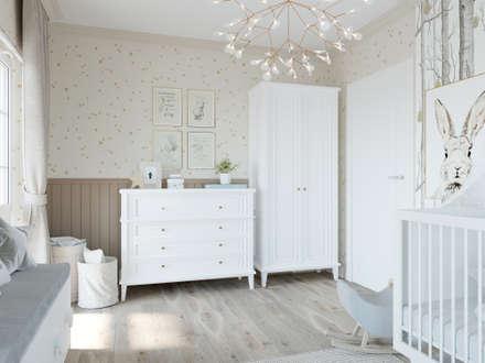 Дизайн-проект загородного дома: комнаты для новорожденных в . Автор – Style Home
