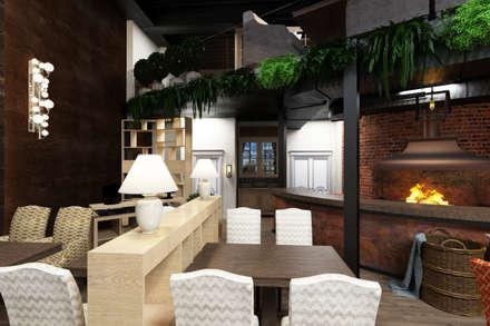 "Дизайн-проект ресторана ""Лён"": Ресторации в . Автор – Style Home"