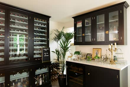 classic Wine cellar by deVOL Kitchens