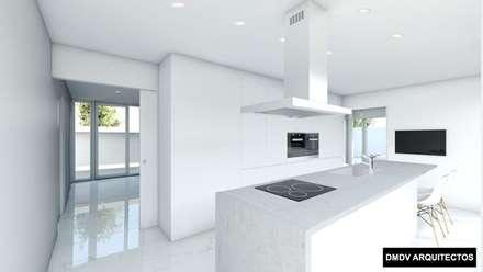 Casa Titania. Vivienda PASSIVHAUS PLUS certificada en Madrid. Cocina. DMDV Arquitectos: Cocinas integrales de estilo  de DMDV Arquitectos