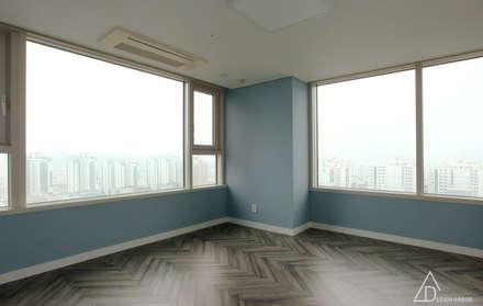 호텔같은 복층 펜트하우스 인테리어: 디자인 아버의  방