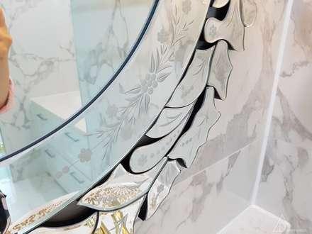 호텔같은 복층 펜트하우스 인테리어: 디자인 아버의  화장실