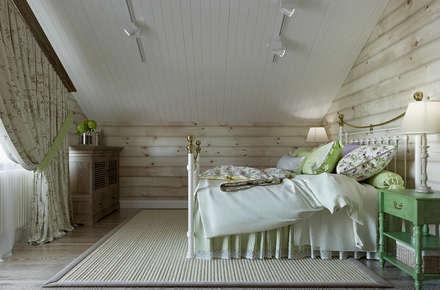 Проект дома из клеенного бруса: Спальни в . Автор – Defacto studio