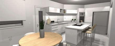 Render: Muebles de cocinas de estilo  por A3 arquitectas