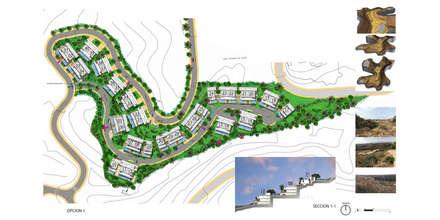 CONCURSO DAZIA EN ELVIRIA: Casas multifamiliares de estilo  de G&J ARQUITECTURA