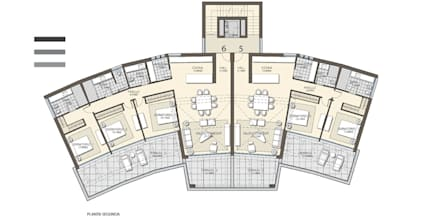 CONCURSO EN URBANIZACIÓN EL HERROJO, BENAHAVIS: Casas multifamiliares de estilo  de G&J ARQUITECTURA