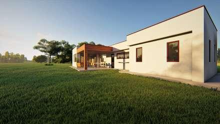 Vivienda Vegas Norte: Casas unifamiliares de estilo  por Territorio Arquitectura y Construccion