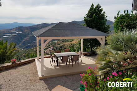 Lean-to roof by COBERTI