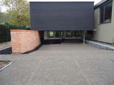 Comenzando la instalación de los estabilizadores de grava EasyGravel®: Jardines con piedras de estilo  de AMAGARD ESPAÑA