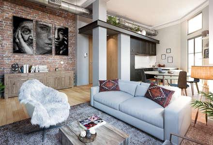 PROYECTO DE EDIFICIO DE APARTAMENTOS EN MÁLAGA CENTRO: Casas multifamiliares de estilo  de G&J ARQUITECTURA