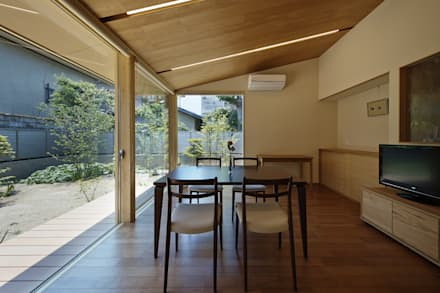 京都市G邸: 空間工房 用舎行蔵 一級建築士事務所が手掛けたダイニングです。