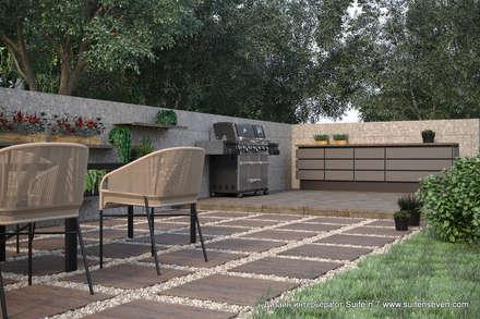 Проект загородного дома в Ленинградской области от Suite n.7: Tерраса в . Автор – Suiten7
