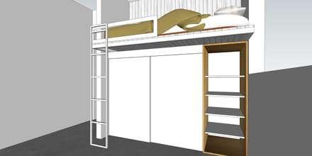 Depto FM: Dormitorios de niñas de estilo  por MMAD studio - arquitectura & mobiliario -
