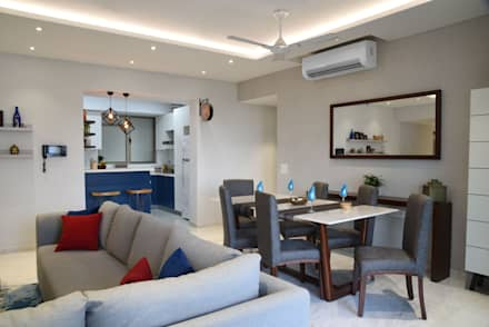 Apartment on Golf Course Extn. Road, Gurugram: modern Dining room by The Workroom