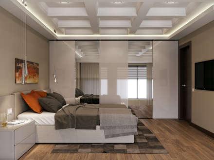 Апартаменты в ЖК TriBeCa: Спальни в . Автор – EJ Studio