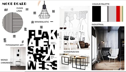 Office Interiors - Scandinavian Industrial theme (Mood Board):  Offices & stores by About The Aesthetics