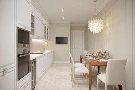 Квартира 66 кв.м. в стиле эклектика в ЖК Успенский: Кухни в . Автор – Студия архитектуры и дизайна Дарьи Ельниковой