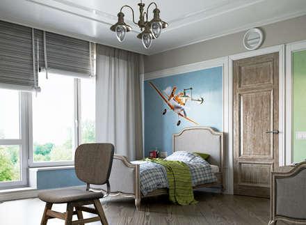 mediterranean Nursery/kid's room by EJ Studio