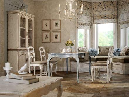 Дом в поселке Вартемяги: Столовые комнаты в . Автор – EJ Studio