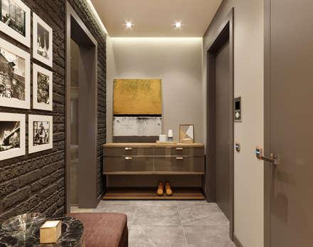 4-х комнатная квартира в ЖК Новое Тушино: Коридор и прихожая в . Автор – EJ Studio