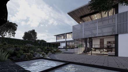 Casas unifamilares de estilo  de Paola Calzada Arquitectos