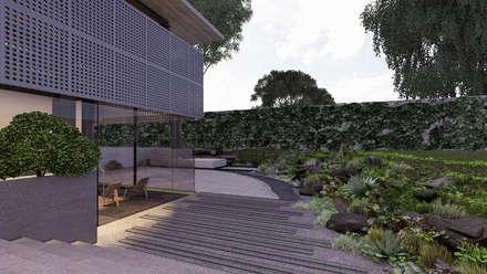 Сад камней в . Автор – Paola Calzada Arquitectos