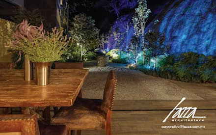 Jardines zen de estilo  por Lazza Arquitectos