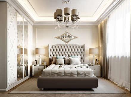 Квартира на Московском проспекте: Спальни в . Автор – EJ Studio