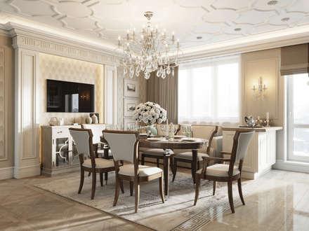 Квартира на Московском проспекте: Столовые комнаты в . Автор – EJ Studio