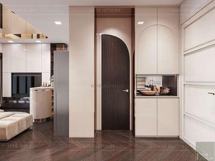 """THIẾT KẾ NỘI THẤT MONOCHROME CĂN HỘ LANDMARK 81 - Tiêu chí """"Less is more"""" trong thiết kế nội thất:  Cửa ra vào by ICON INTERIOR"""