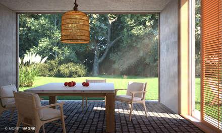 Veranda: Giardino d'inverno in stile in stile Moderno di Moretti MORE