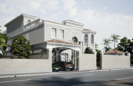 Mediterranean Arabic House Design:  Detached home by Comelite Architecture, Structure and Interior Design