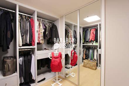 마장동 중앙하이츠: 바라봄디자인의  드레스 룸
