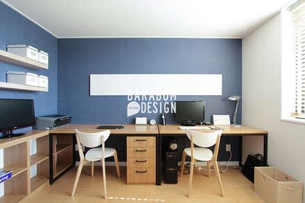 마장동 중앙하이츠: 바라봄디자인의  서재 & 사무실