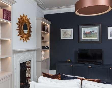 Elegant Extension: classic Media room by Pfeiffer Design Ltd