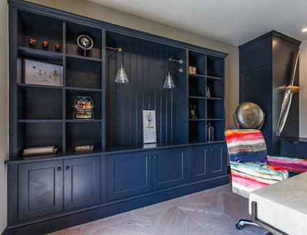 High End Residence: modern Study/office by Pfeiffer Design Ltd