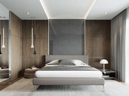 Квартира на Ярославском шоссе: Спальни в . Автор – EJ Studio