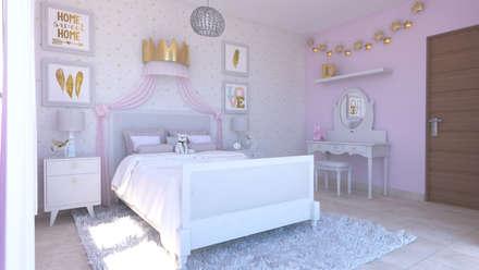Habitaciones para niñas de estilo  por FLORS