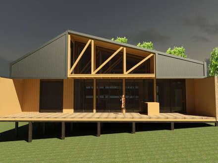 Wooden houses by ARCHIMINIMAL ESTUDIO