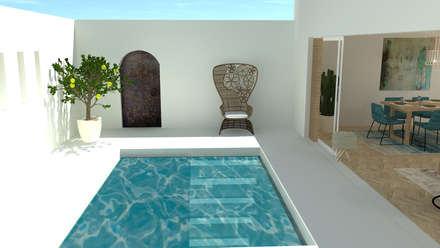 Ferienwohnung Santorin:  Terrasse von Raum und Mensch