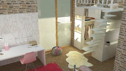 Camera ragazze in stile  di Raum und Mensch