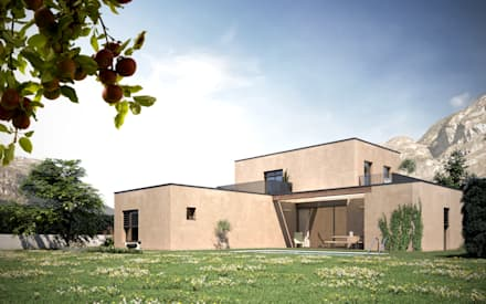 Vista esterna: Casa prefabbricata  in stile  di Moretti MORE