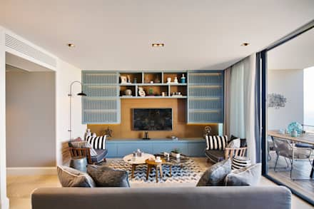 Bodrum Bodrum: eclectic Living room by Esra Kazmirci Mimarlik
