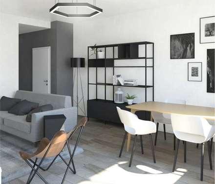Un soggiorno in stile scandinavo: Sala da pranzo in stile in stile Scandinavo di interiorbe SRL