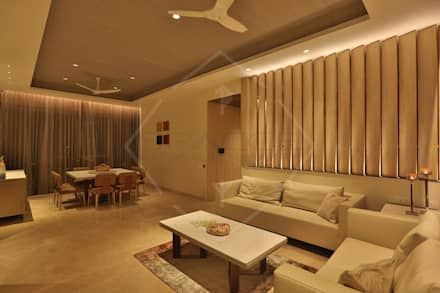 ON CLOUD 39!! @ lower parel, Mumbai): asian Dining room by SPACCE INTERIORS