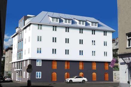 Wohnhaus und Kulturzentrum:  Bürogebäude von A-AB