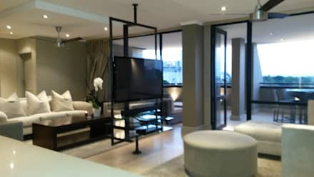 Sandton Style Penthouse Living: minimalistic Living room by CKW Lifestyle
