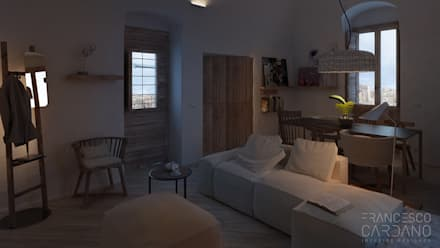 Anto Apartment: Soggiorno in stile in stile Rustico di FRANCESCO CARDANO Interior designer