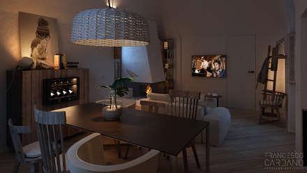 Anto Apartment: Sala da pranzo in stile in stile Rustico di FRANCESCO CARDANO Interior designer