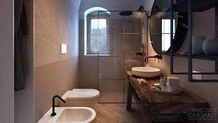 Anto Apartment: Bagno in stile in stile Rustico di FRANCESCO CARDANO Interior designer